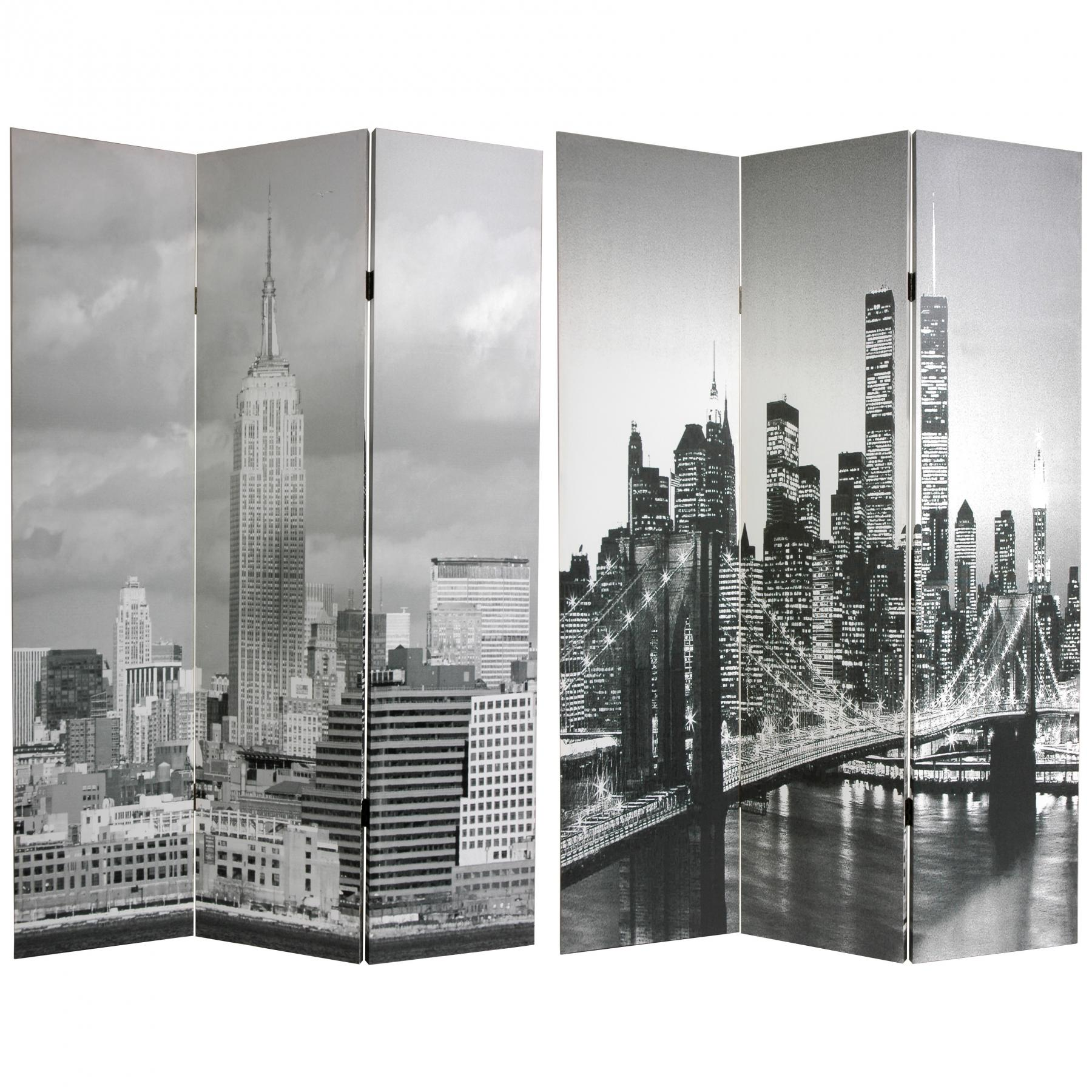 6 ft Tall New York Scenes Room Divider RoomDividerscom