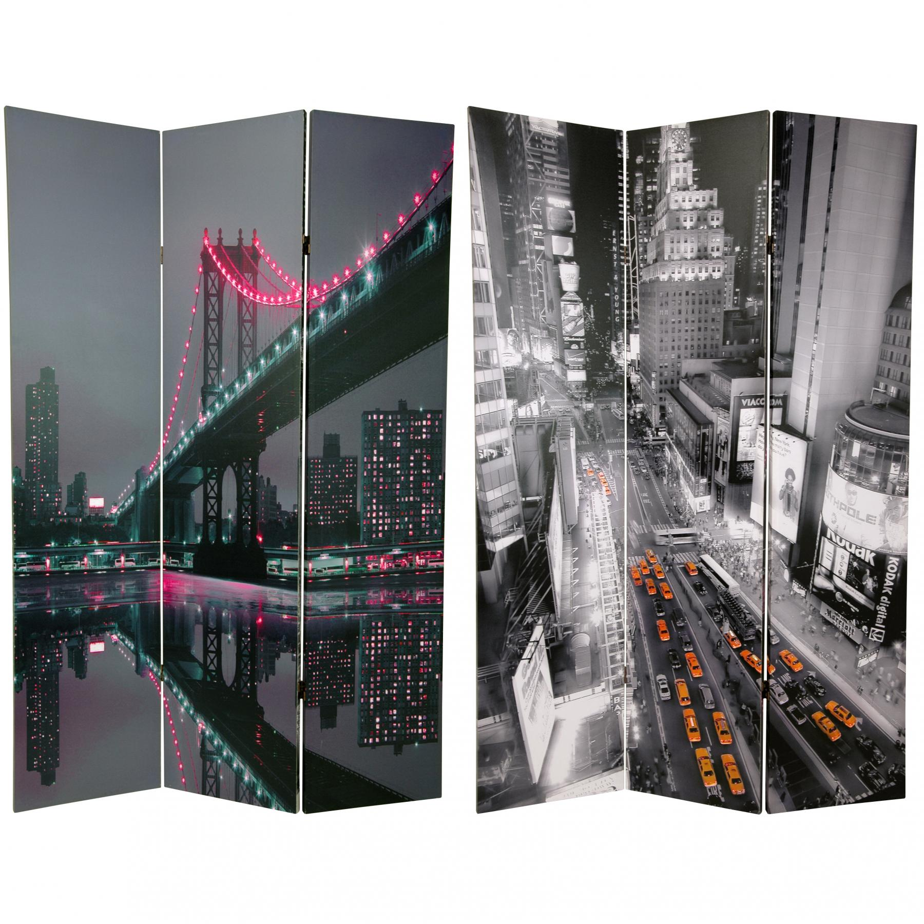 6 Ft Tall New York State Of Mind Room Divider
