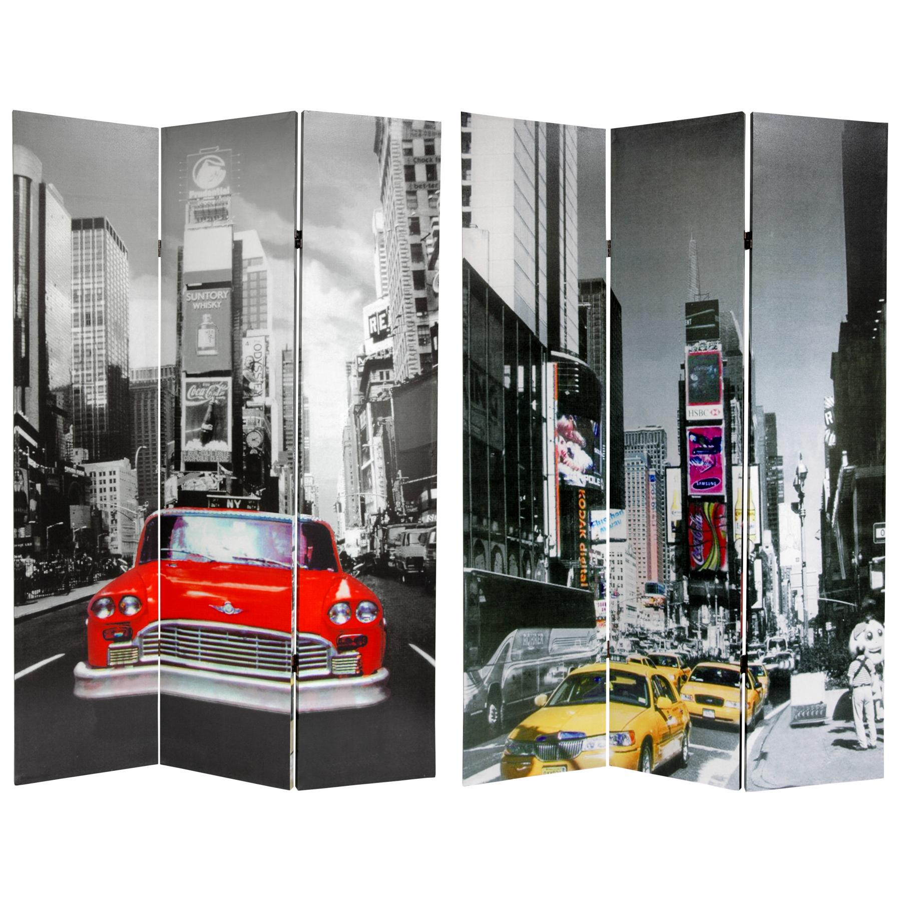6 ft. Tall New York City Taxi Room Divider | RoomDividers.com