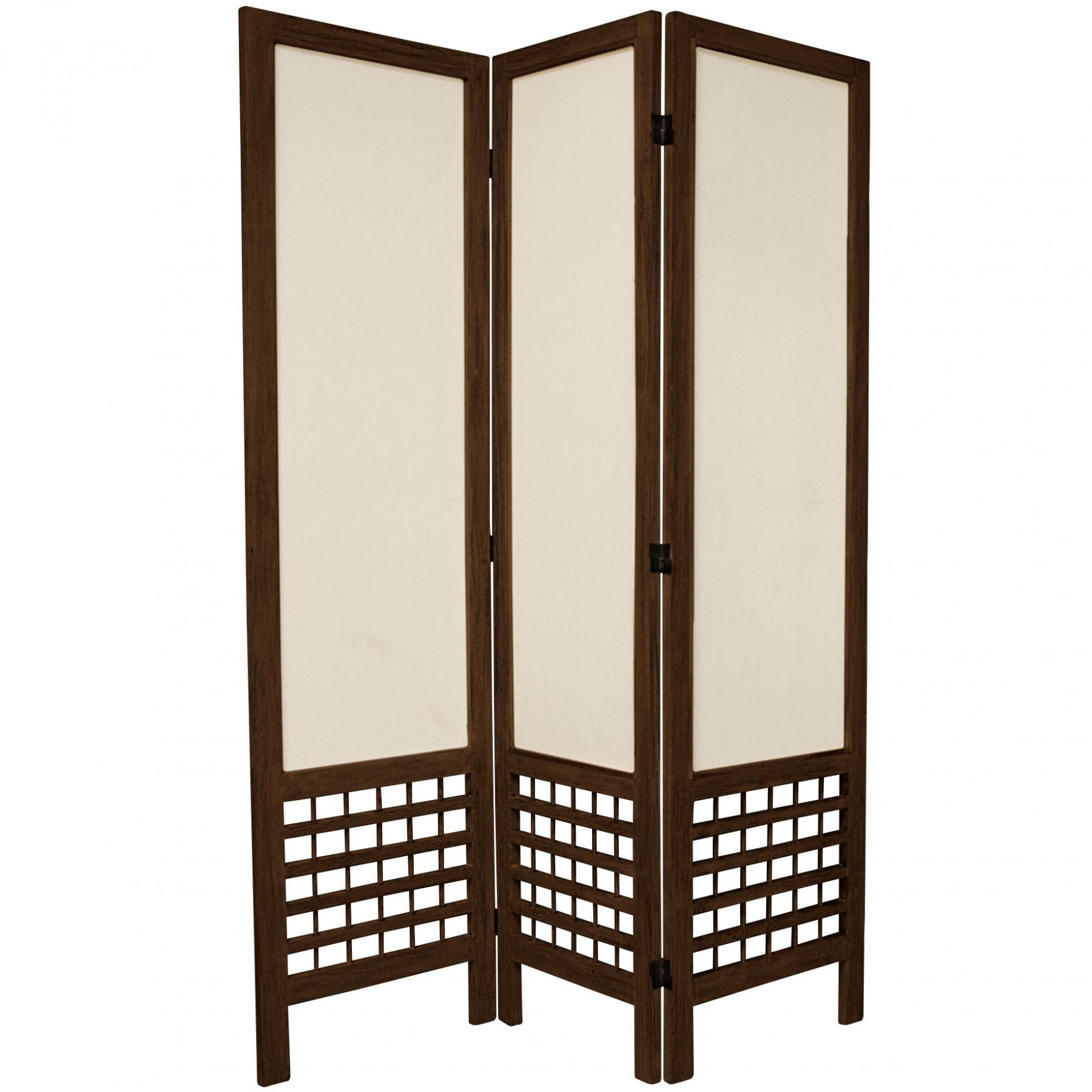 5 ft tall open lattice fabric room divider