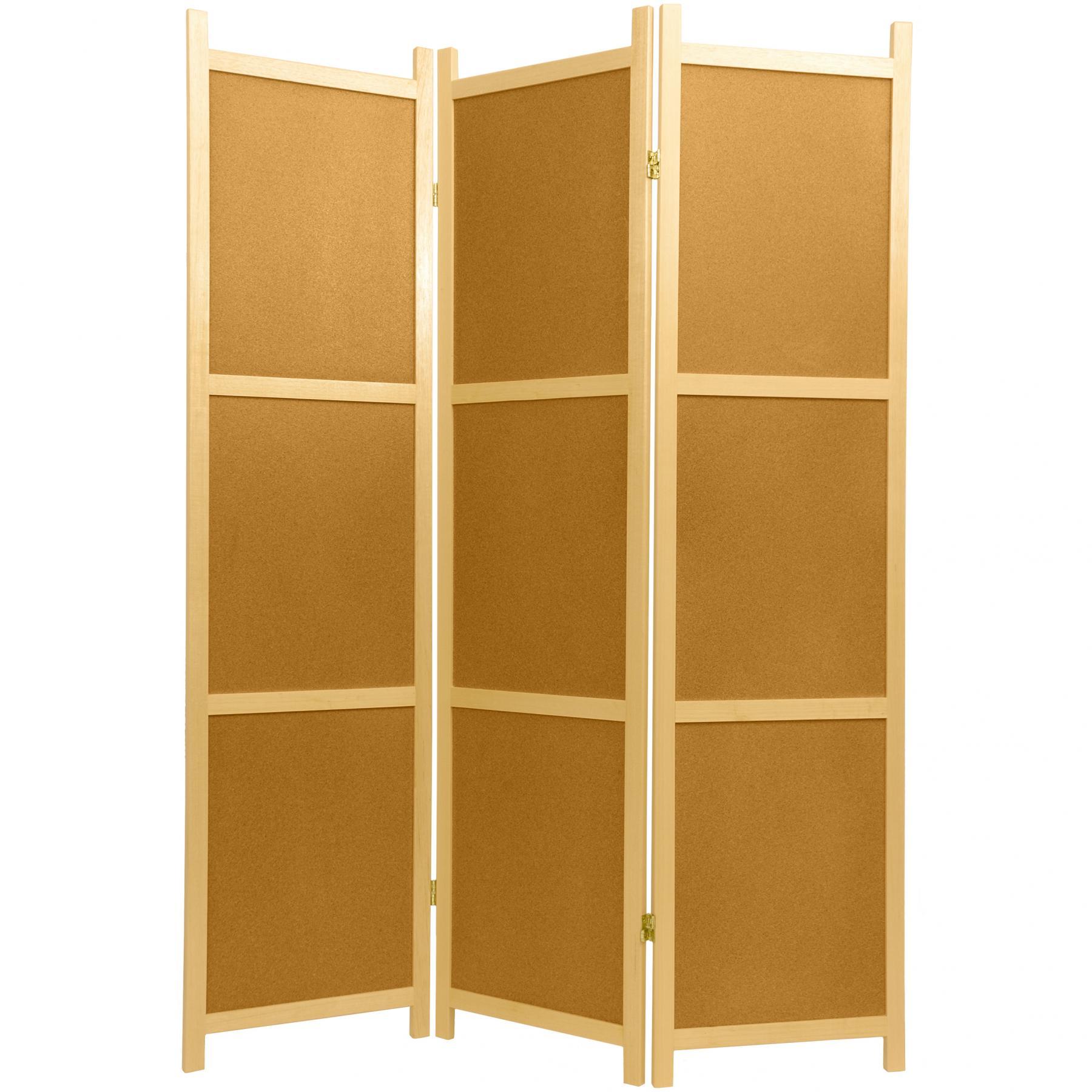 6 ft tall cork board shoji screen