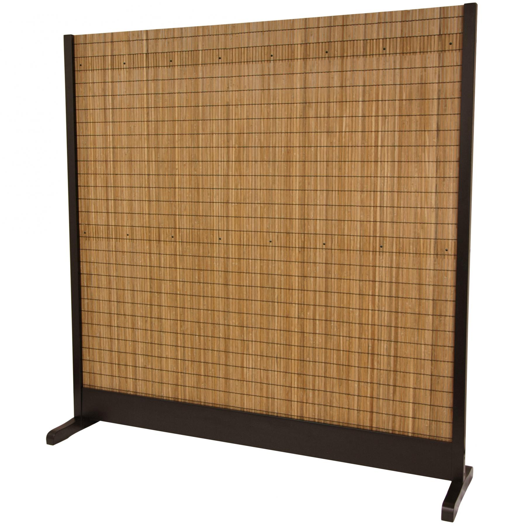 6 ft tall take room divider walnut for Tall outdoor privacy screen panels