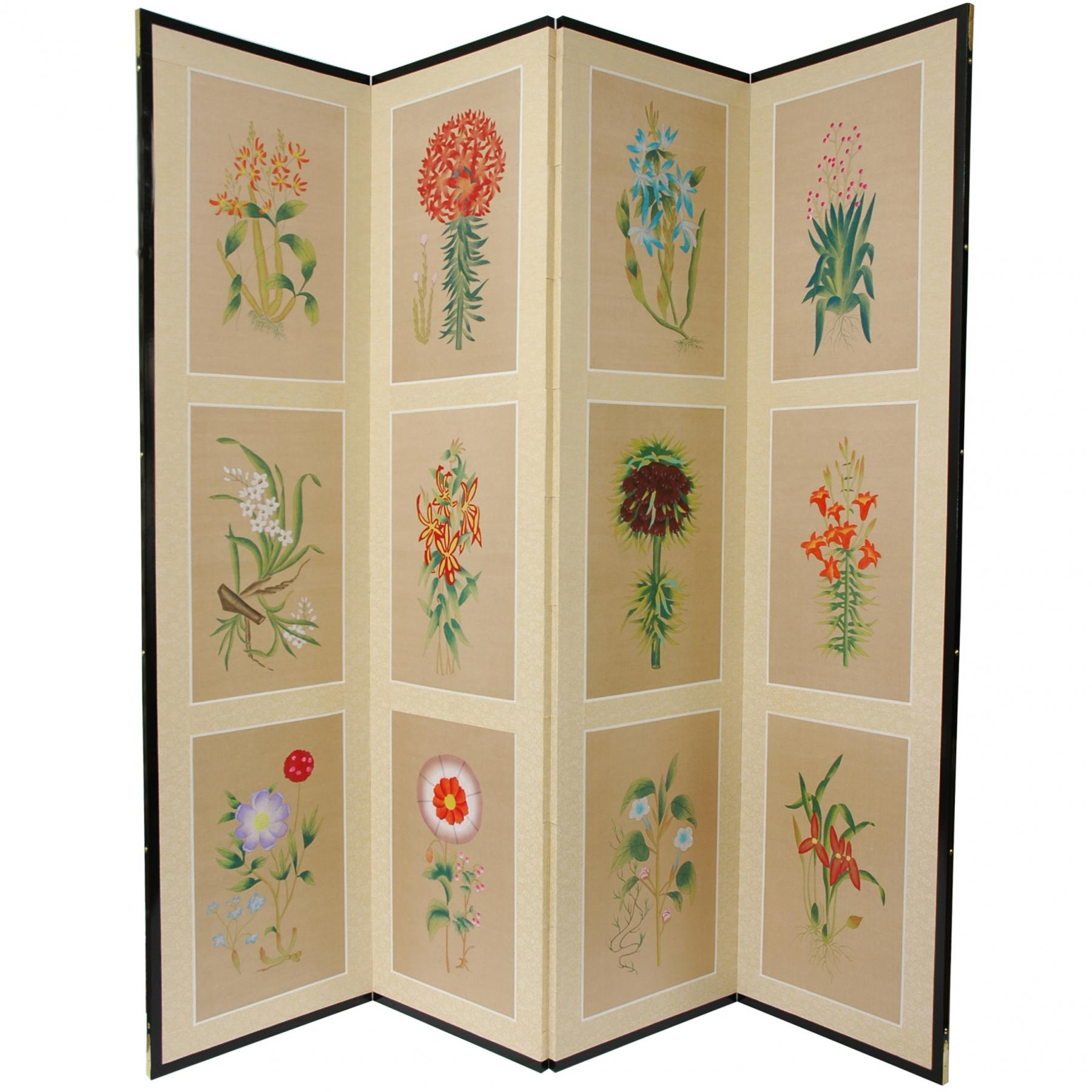 6 ft tall 12 small flowers room divider for Small room divider