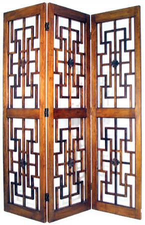 6 ft tall red chamber lattice screen for Lattice room divider