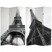 6 ft. Tall Eiffel Tower Canvas Room Divider - More Details
