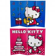 4 ft. Tall Double Sided Hello Kitty Birthday Cake Canvas Room Divider - More Details
