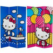 6 ft. Tall Double Sided Hello Kitty Sailor Canvas Room Divider - More Details