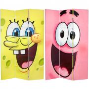 6 ft. Tall Double Sided SpongeBob Canvas Room Divider - More Details
