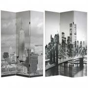 6 ft. Tall New York Scenes Room Divider - More Details