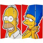 6 ft. Tall Double Sided Homer and Marge Canvas Room Divider - More Details