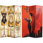 6 ft. Tall Mannequin and Singer Canvas Room Divider - More Details