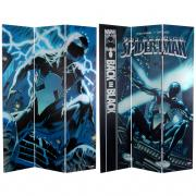 6 ft. Tall Double Sided Spider-Man Back in Black Canvas Room Divider - More Details