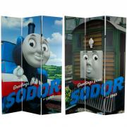 6 ft. Tall Double Sided Thomas Greetings from Sodor Canvas Room Divider - More Details