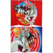 4 ft. Tall Double Sided Looney Tunes Canvas Room Divider - More Details