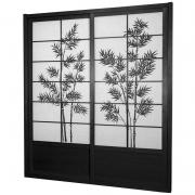 7 ft. Tall Bamboo Tree Shoji Sliding Door Kit - More Details