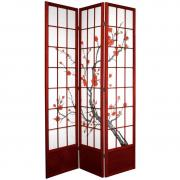 7 ft. Tall Cherry Blossom Shoji Screen - More Details