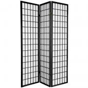 6 ft. Tall Window Pane Shoji Screen - More Details