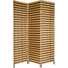 Tall Two Tone Natural Fiber Room Divider