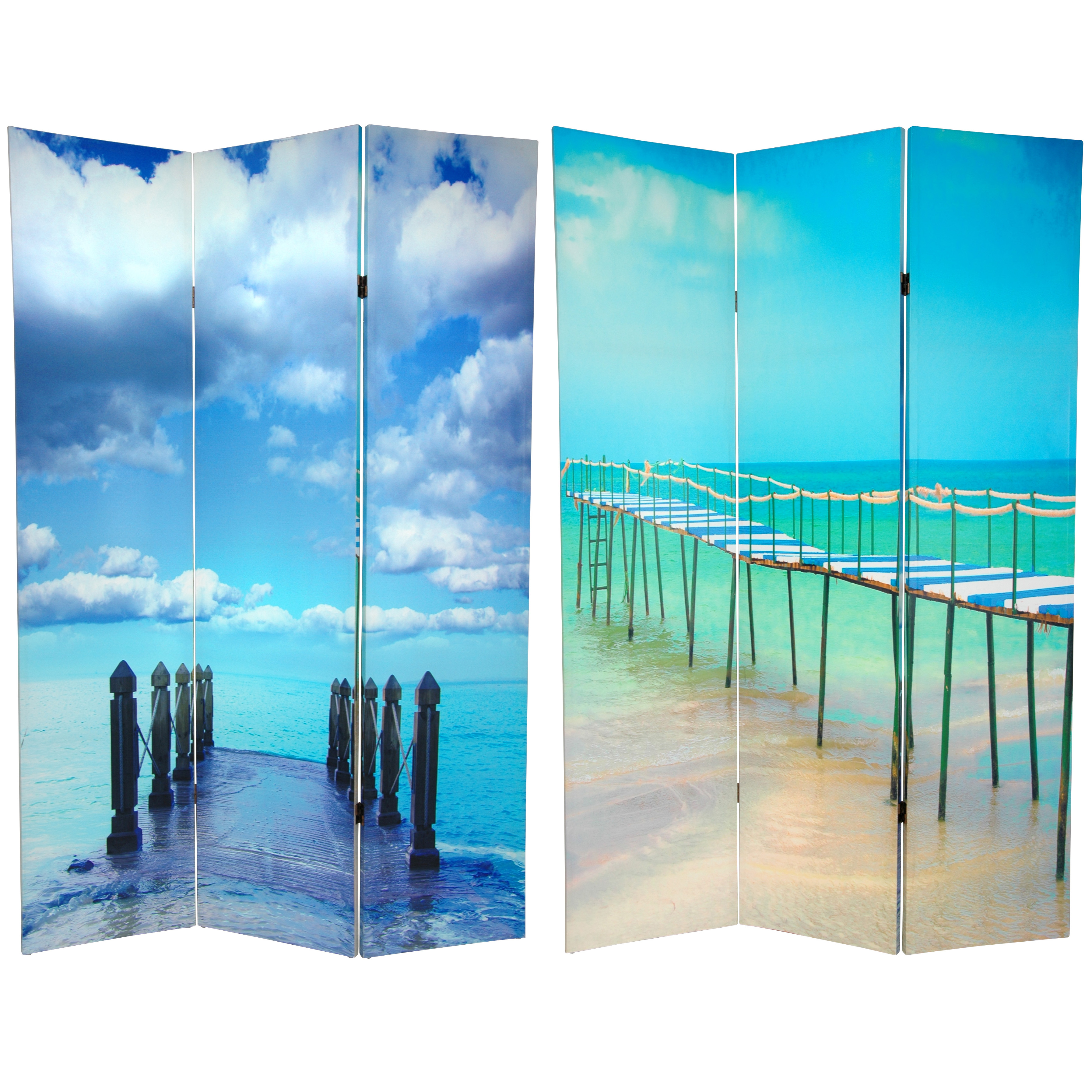 Buy 6 Ft Tall Double Sided Ocean Room Divider Online Can