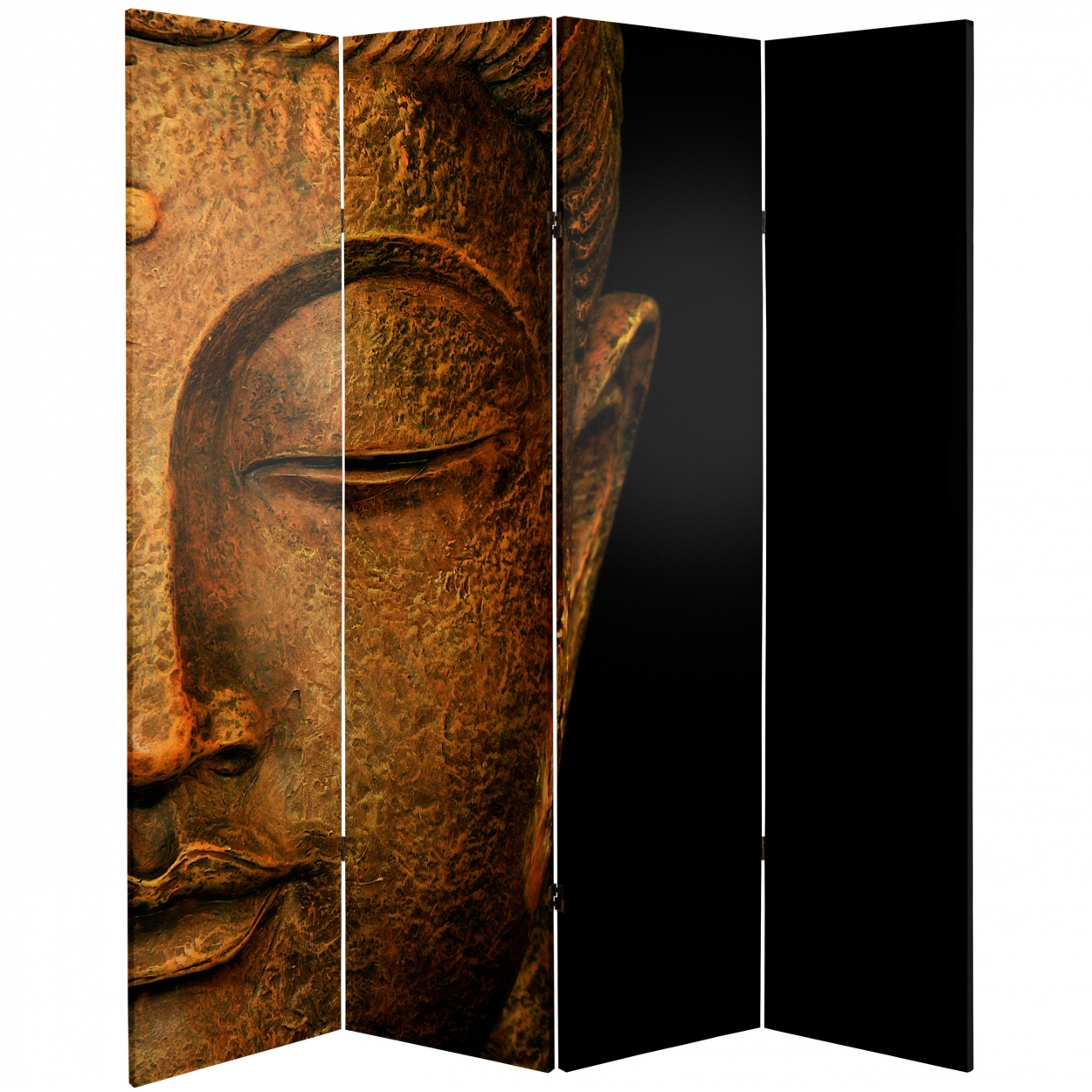 Buy 6 ft Tall Buddha and Ganesh Canvas Room Divider Online CAN