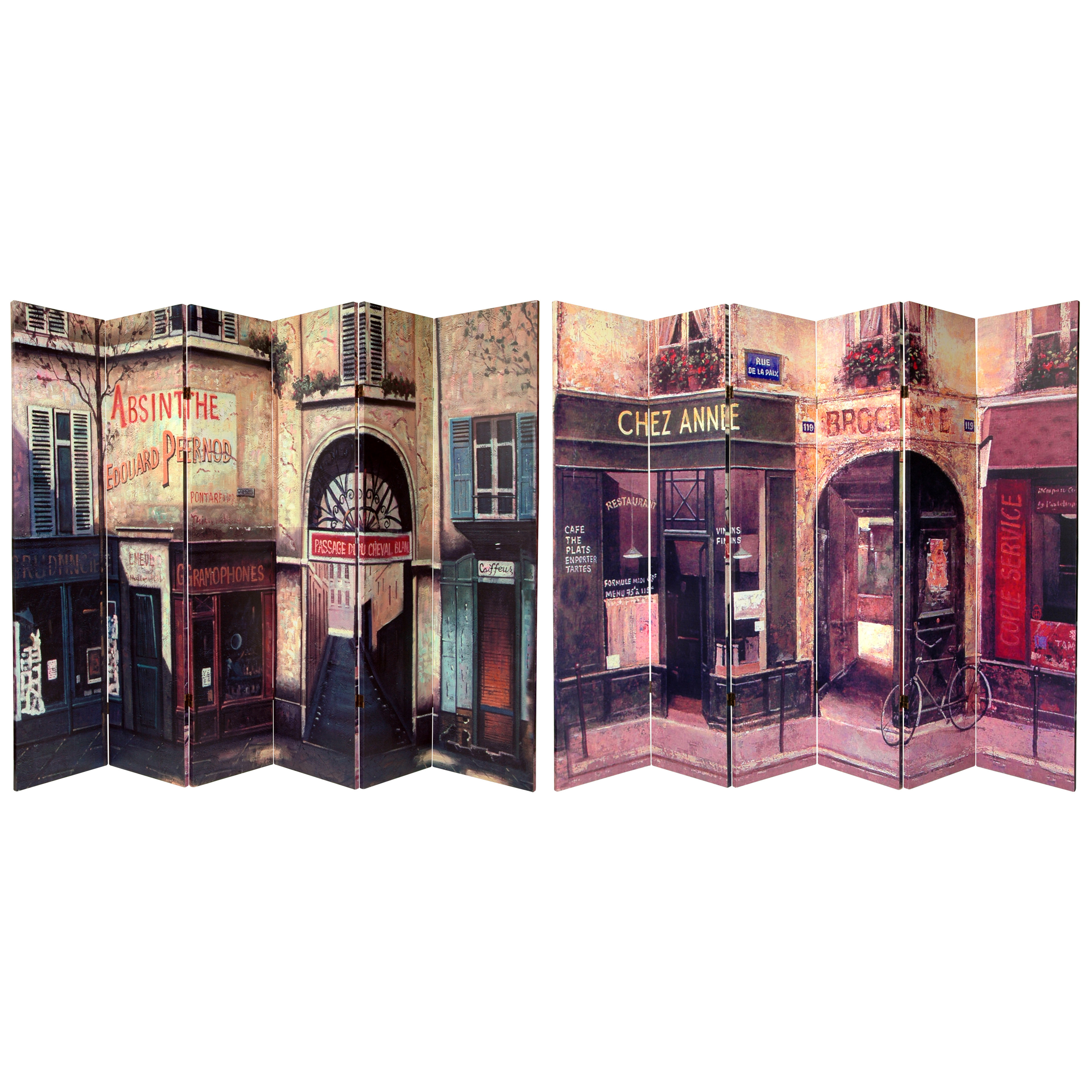 Buy 6 Ft Tall Double Sided French Caf Canvas Room
