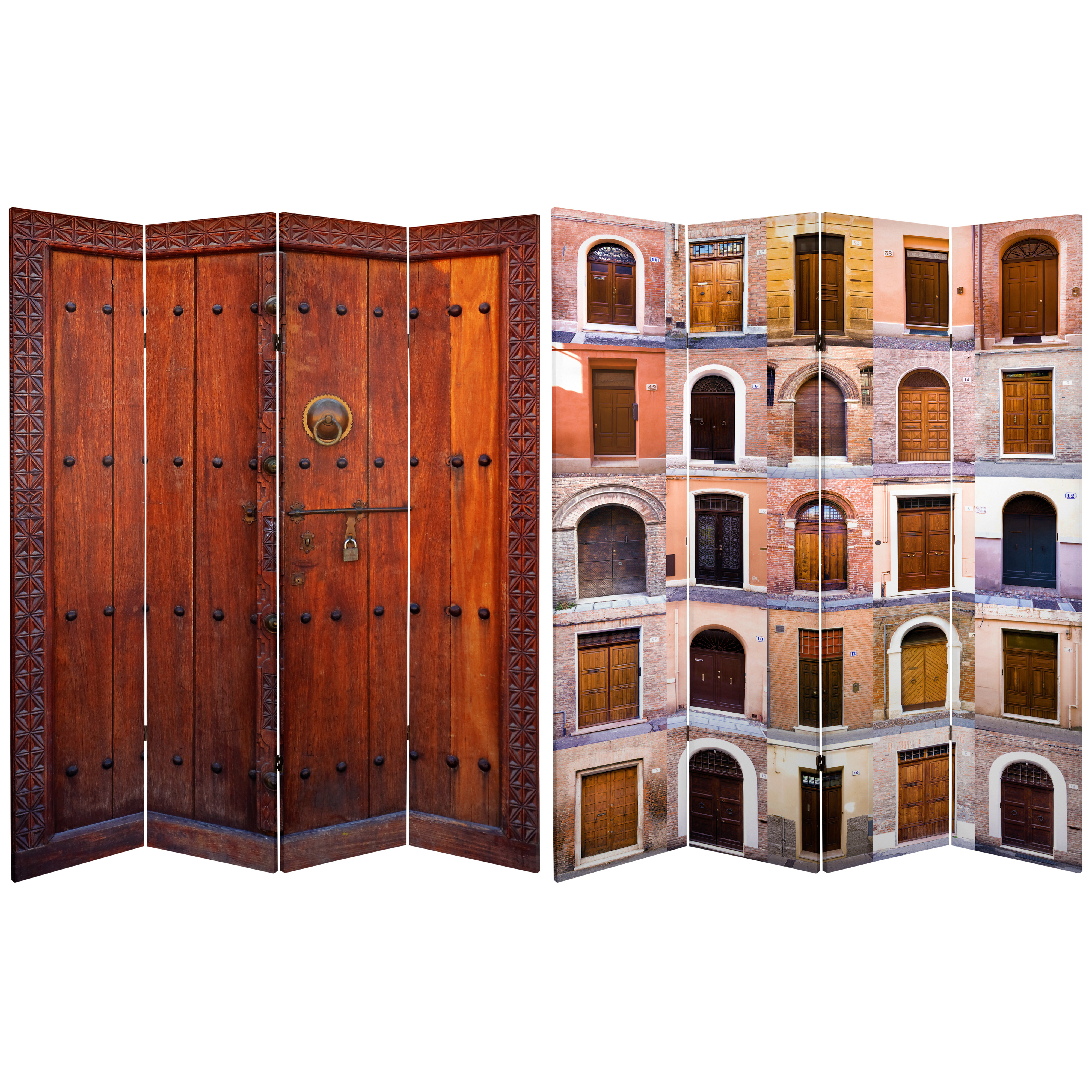 Room Dividers: Buy 6 Ft. Tall Double Sided Doors Canvas Room Divider 4