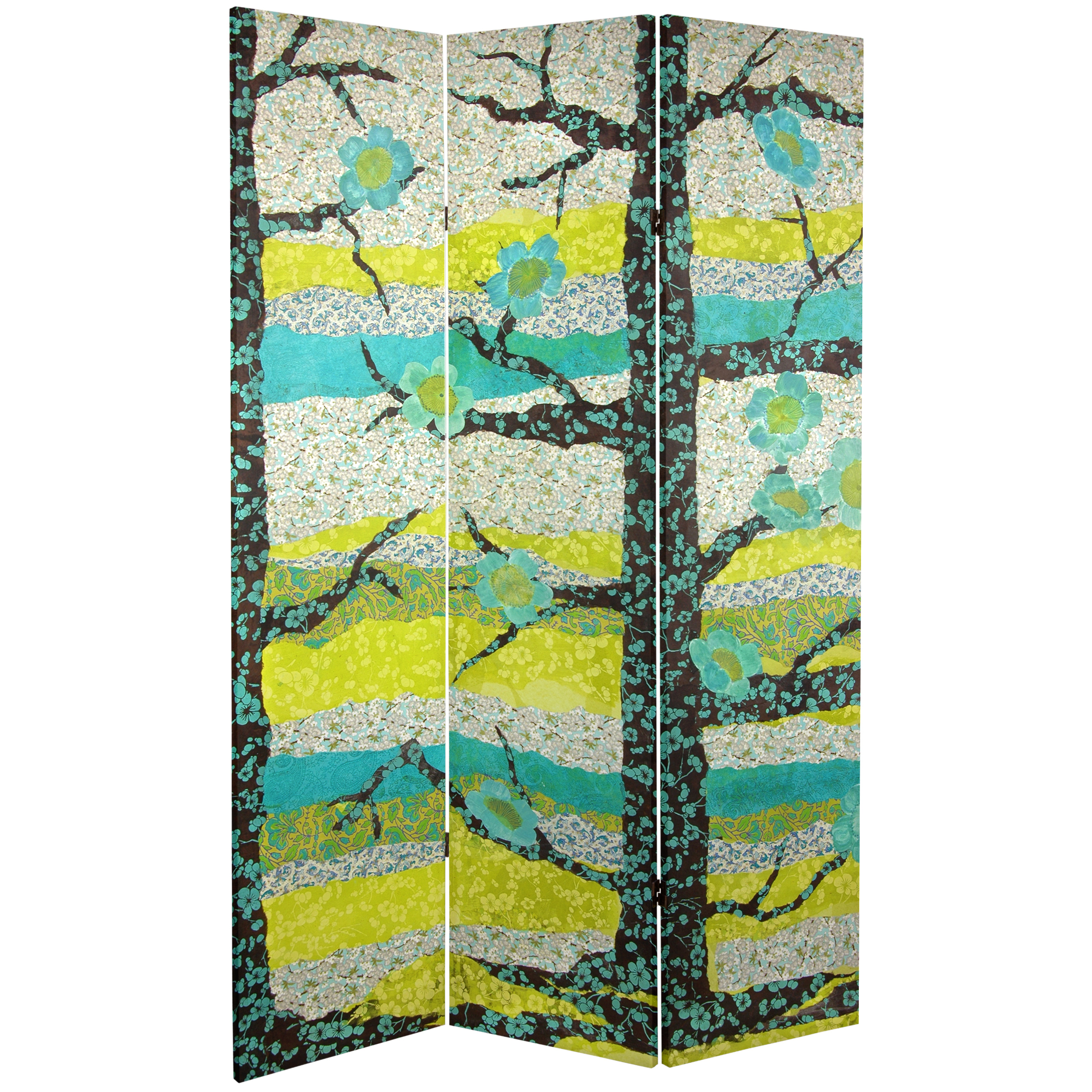 Buy 6 Ft Tall Sylvan Collage Canvas Room Divider Online