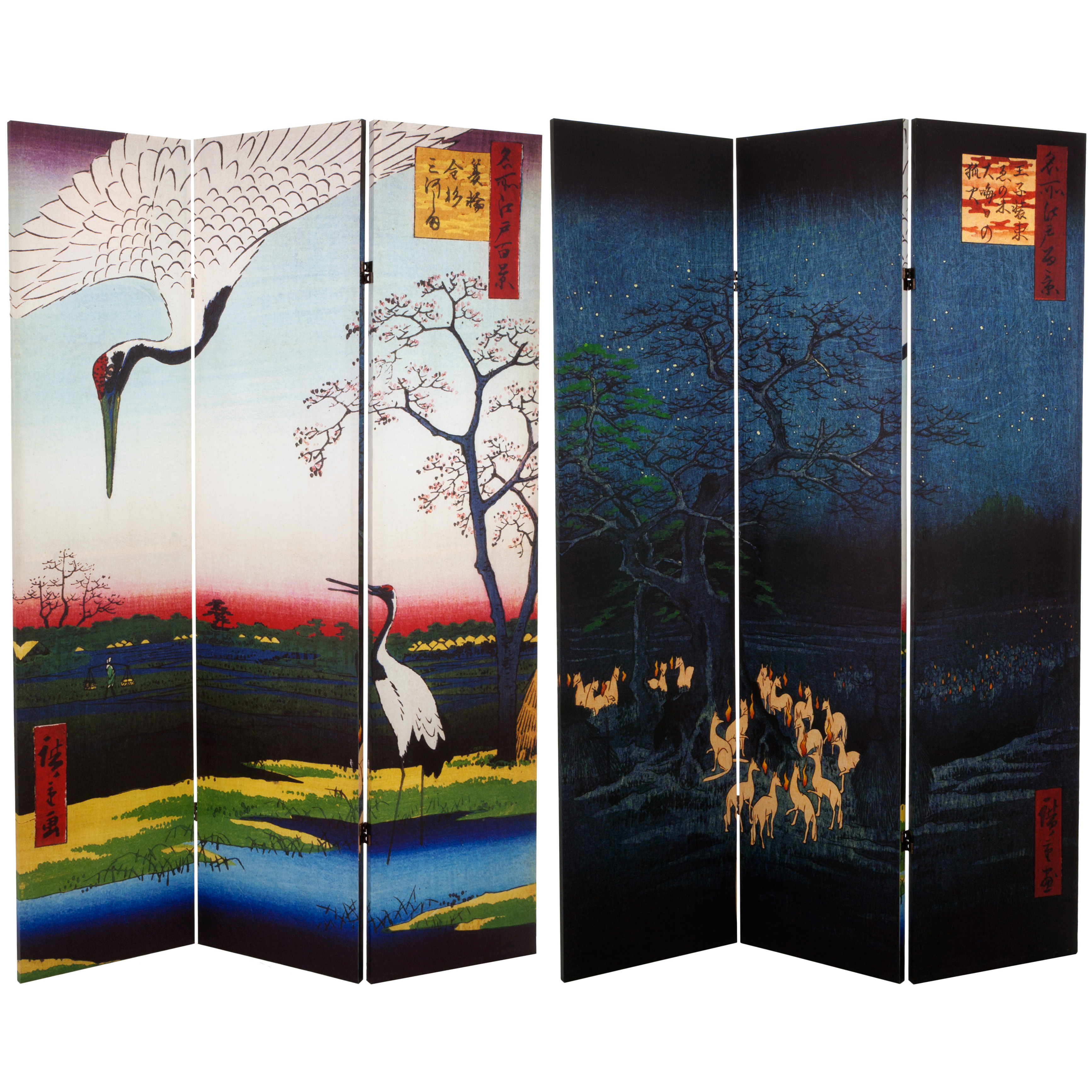 Buy 6 Ft Tall Double Sided Hiroshige Room Divider
