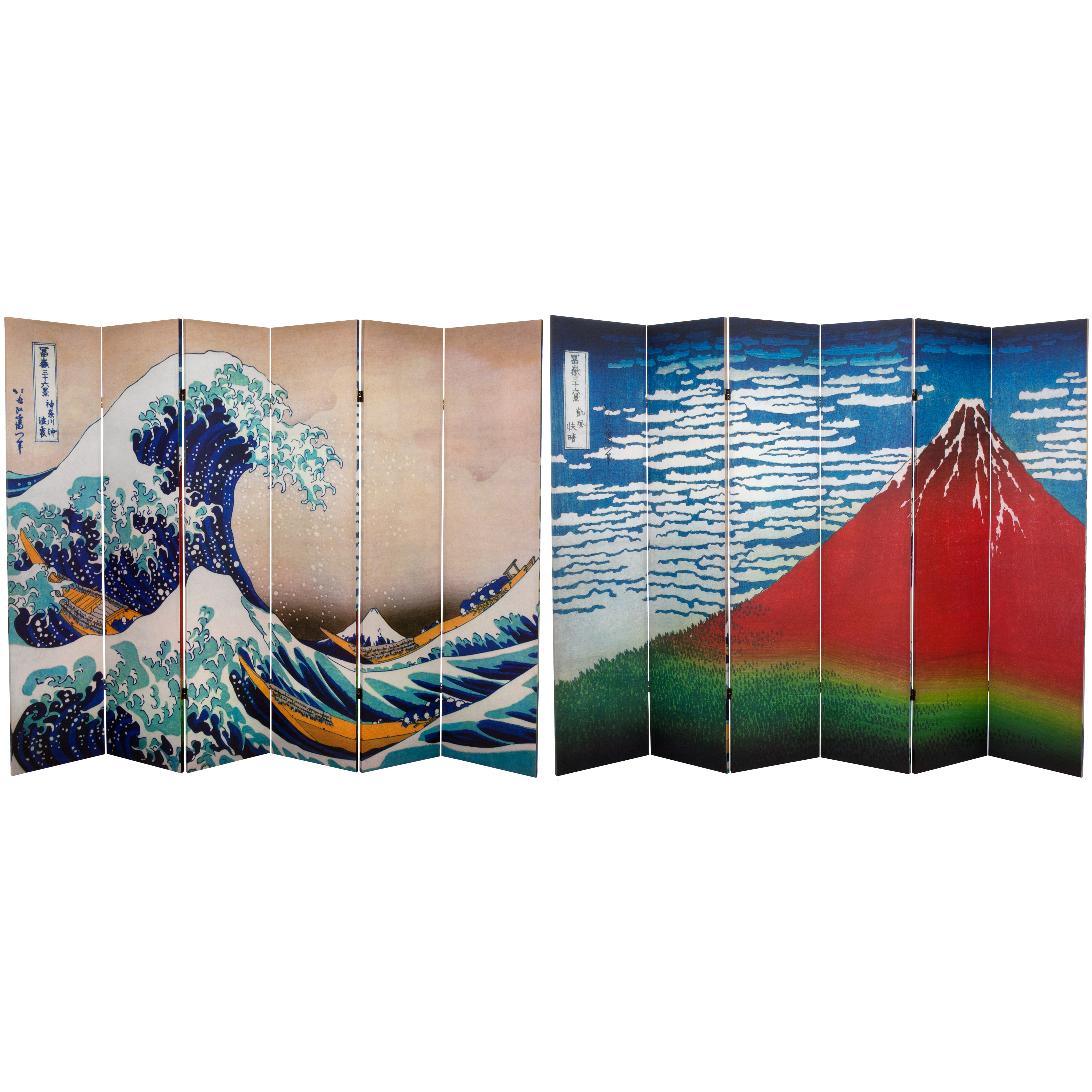 Buy 6 Ft Tall Double Sided Hokusai Room Divider Great