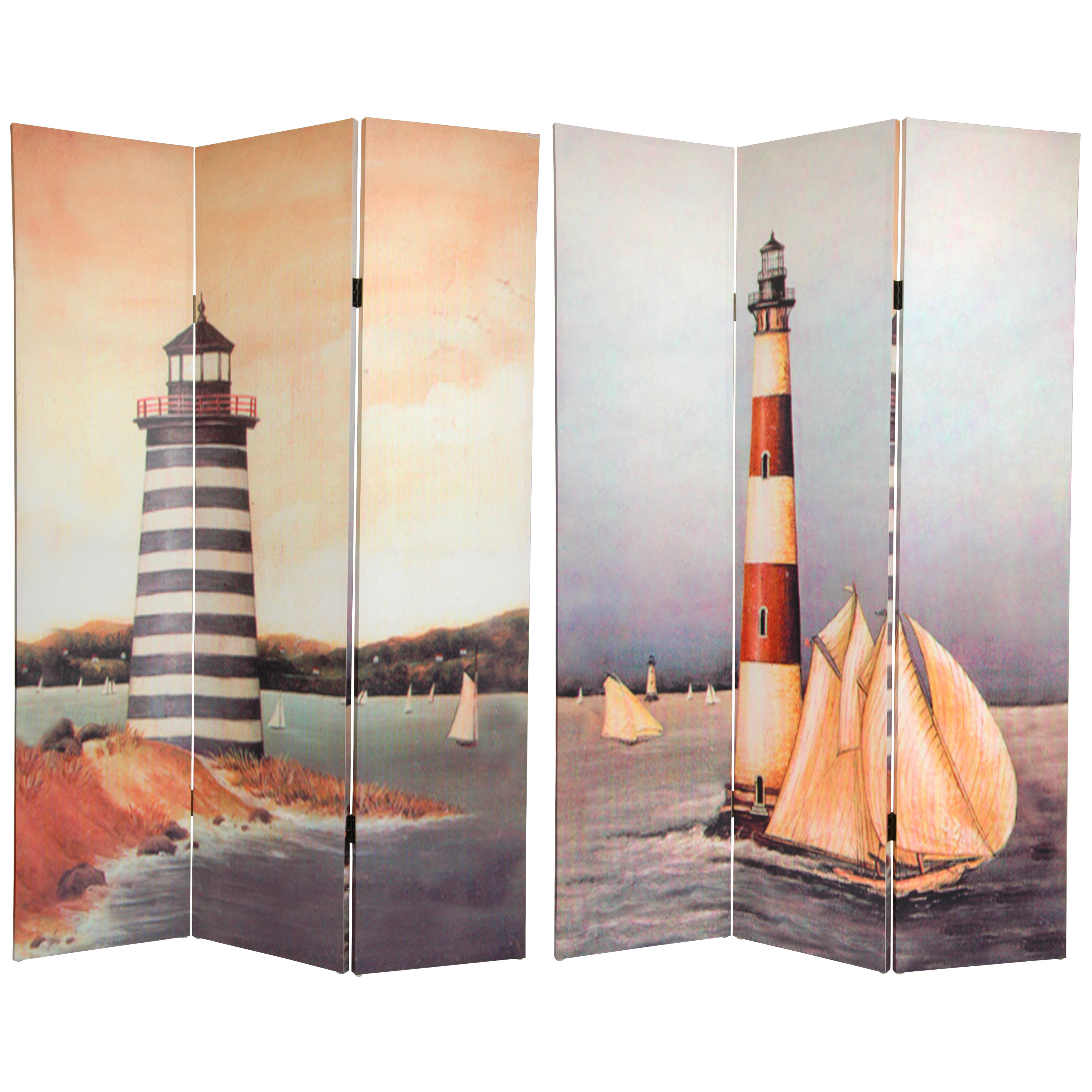 Buy 6 Ft Tall Lighthouses Canvas Room Divider Online Can