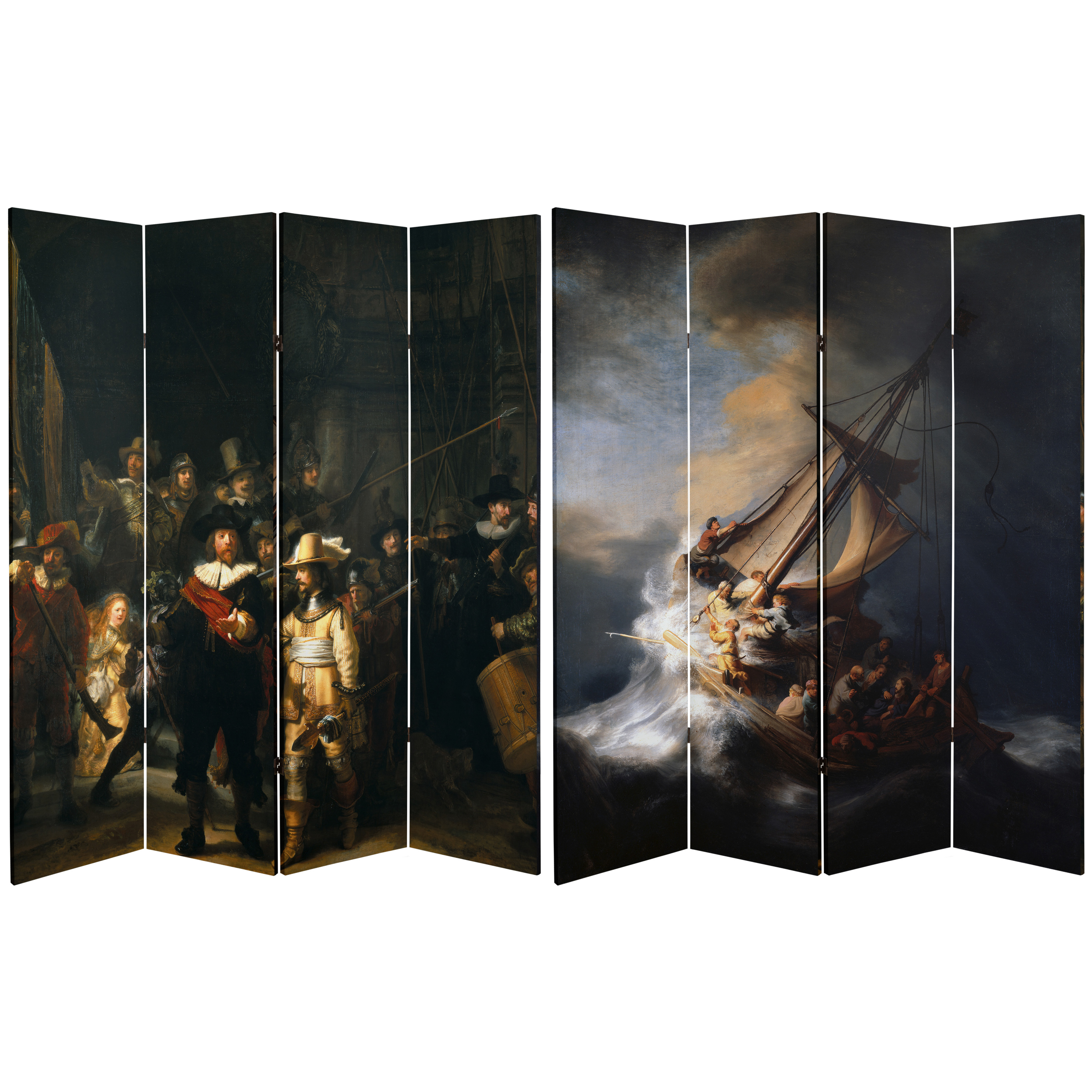 Buy 6 Ft Tall Double Sided Works Of Rembrandt Canvas Room