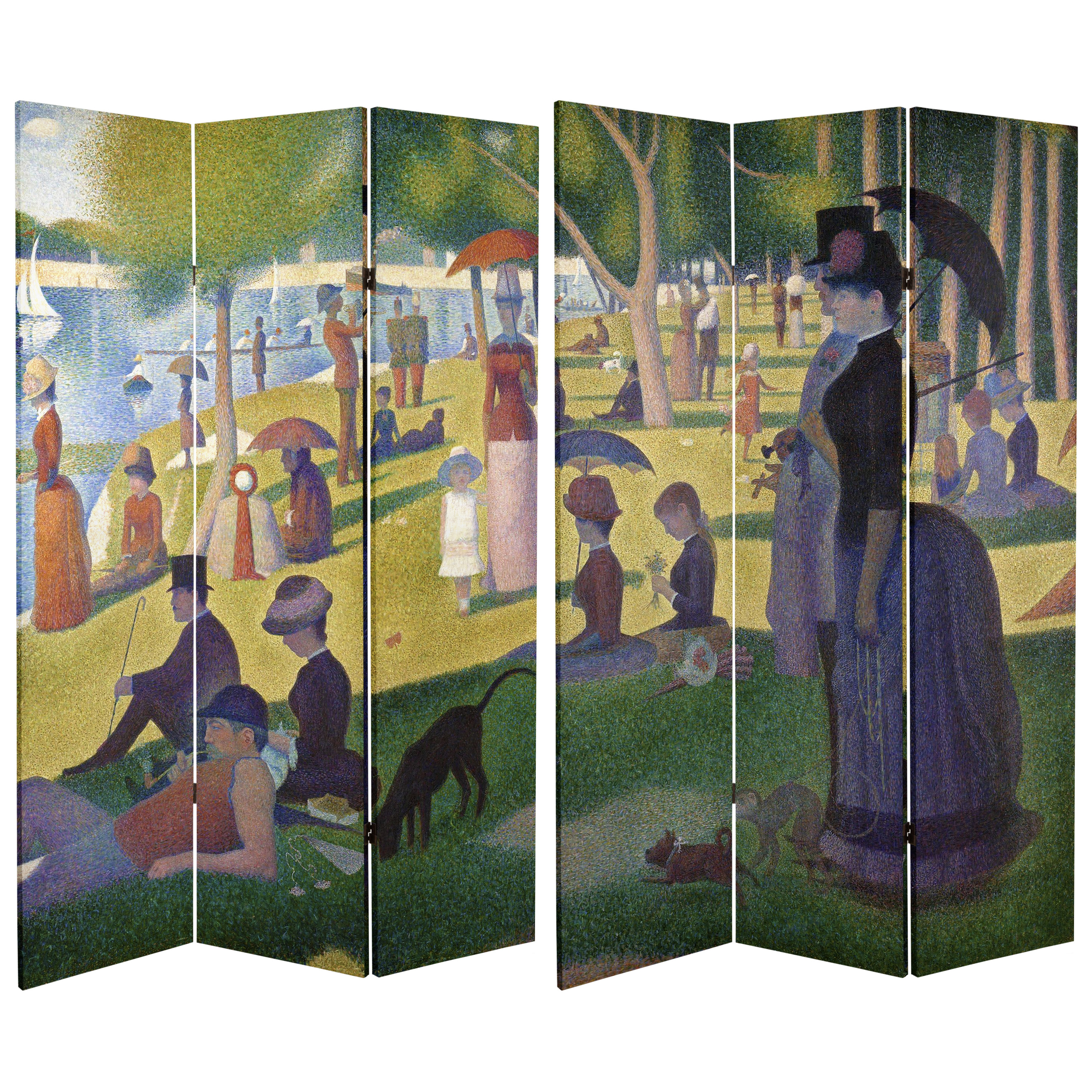 Buy 6 Ft Tall Double Sided Works Of Seurat Canvas Room