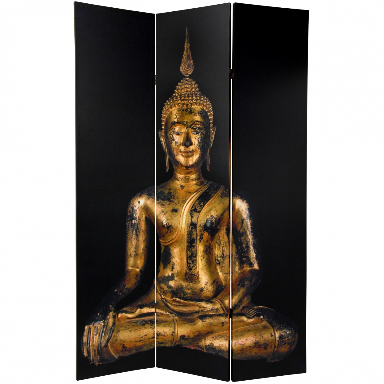 Buy 6 ft Tall Double Sided Thai Buddha Room Divider Online CAN