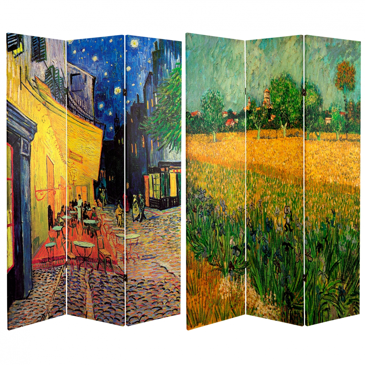 Buy 6 ft Tall Works of Van Gogh Room Divider Cafe TerraceView of