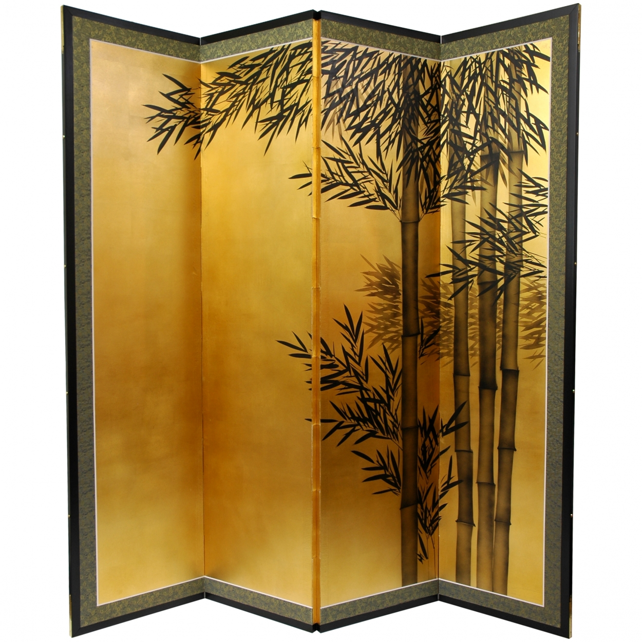 Buy 5 ft Tall Gold Leaf Bamboo Room Divider Online SILK