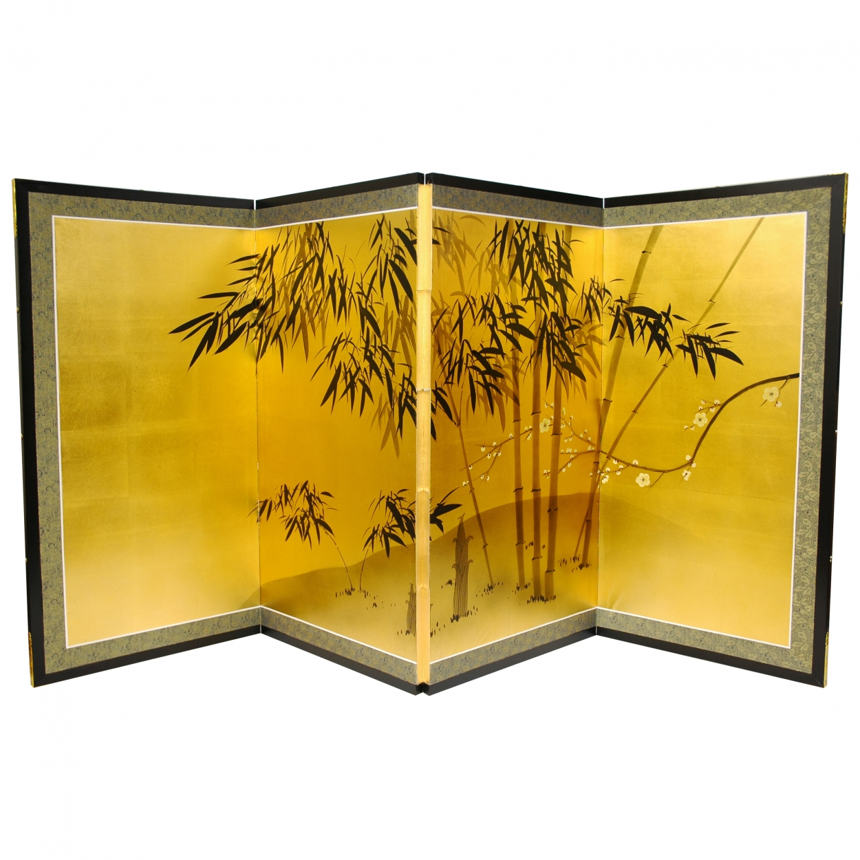 Buy Gold Leaf Bamboo Wall Hanging Online (SILK-BAMBOO ...